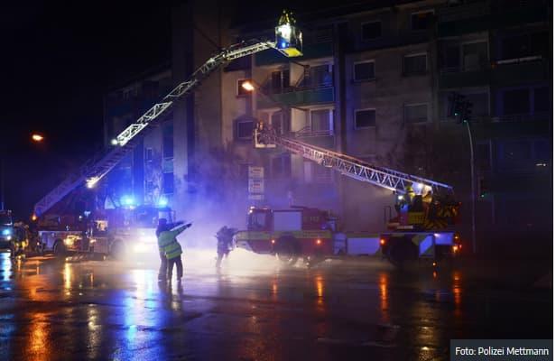 Brandkatastrophe kurz vor Weihnachten in einem unserer Verwaltungsobjekte
